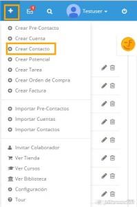 Crear Contacto desde +