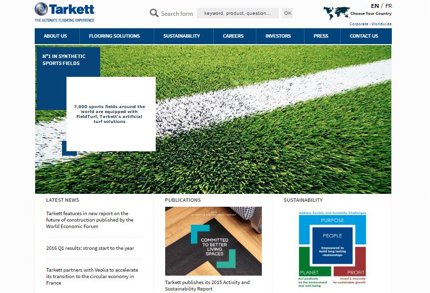 Tarkett, compañía francesa que construye superficies deportivas alternativas.