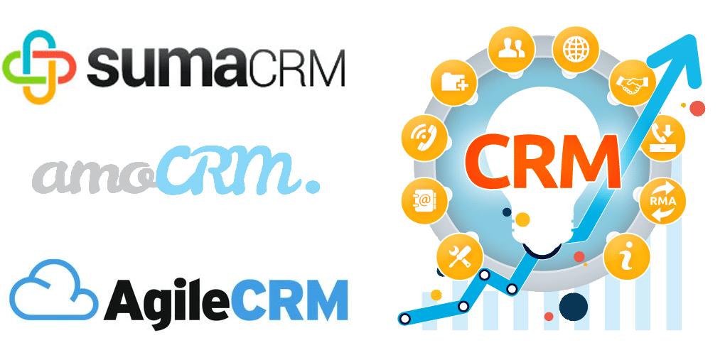 SumaCRM, amoCRM y Agile CRM.