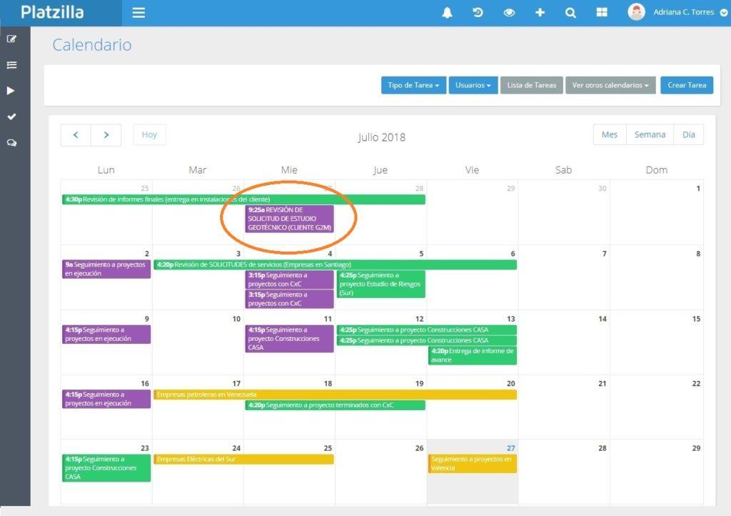 Control y seguimiento de proyectos en empresas consultoras