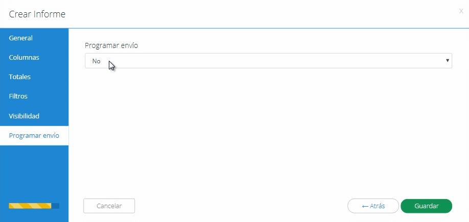 Sección programar envíos