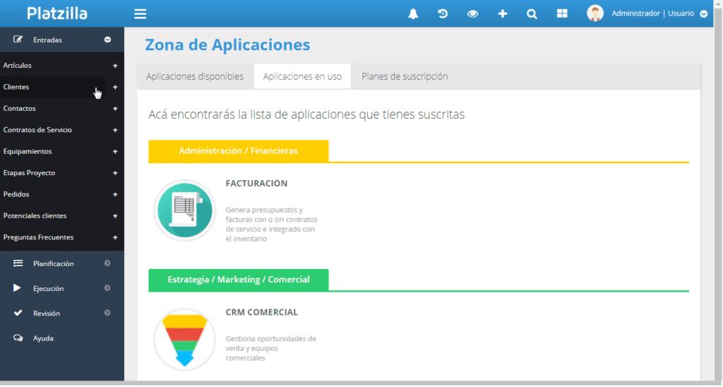 Platzilla: plataforma de aplicaciones para pymes