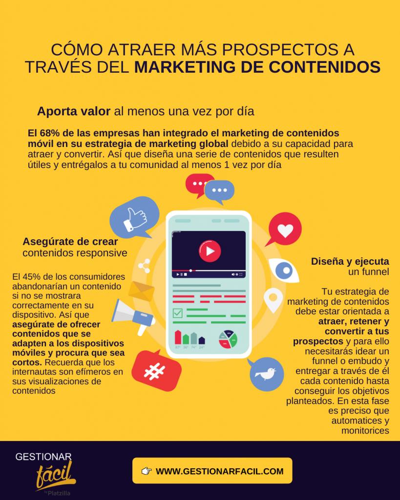 Atraer prospectos con marketing de contenidos