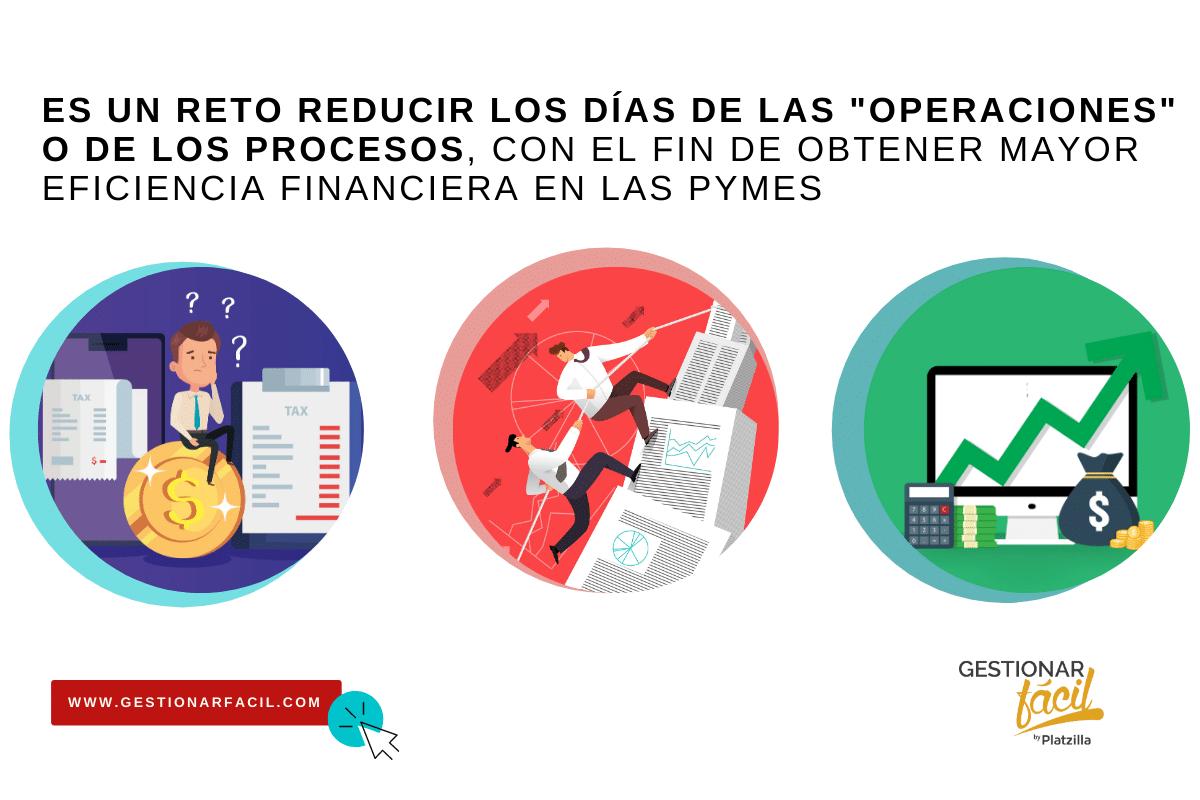 Al reducir los días de operación de los procesos se obtiene mayor eficiencia financiera
