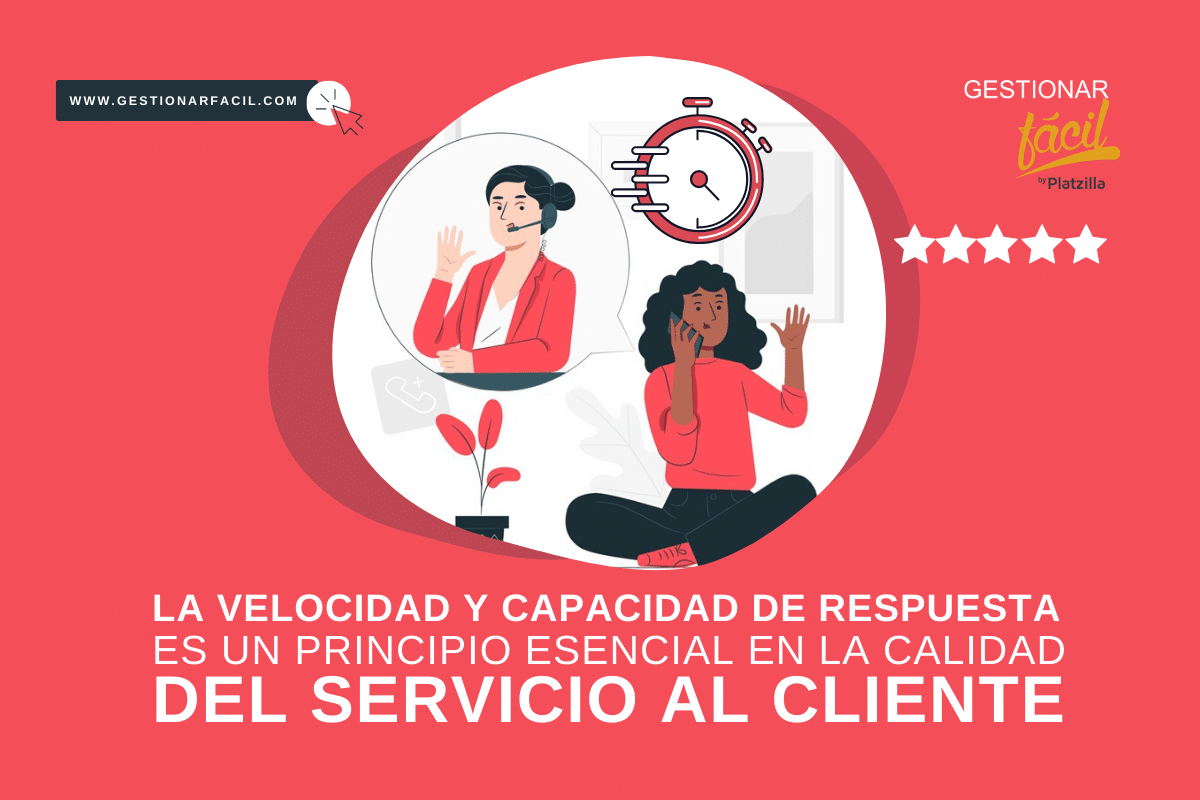 La velocidad y capacidad de respuesta es un principio esencial en la calidad del servicio al cliente.