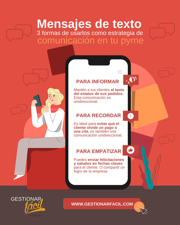 3 formas de utilizar los mensajes de texto como estrategia para comunicarte con tus clientes