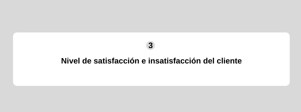 nivel de satisfaccion del cliente