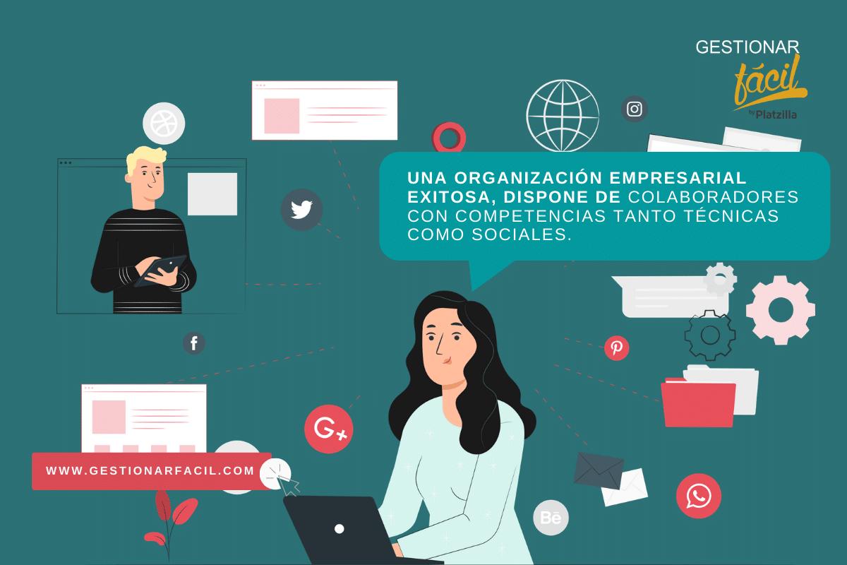 Una organización empresarial exitosa, dispone de colaboradores con competencias tanto técnicas como sociales.