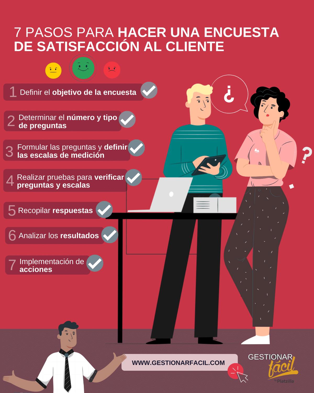 7 pasos para hacer una encuesta de satisfacción al cliente