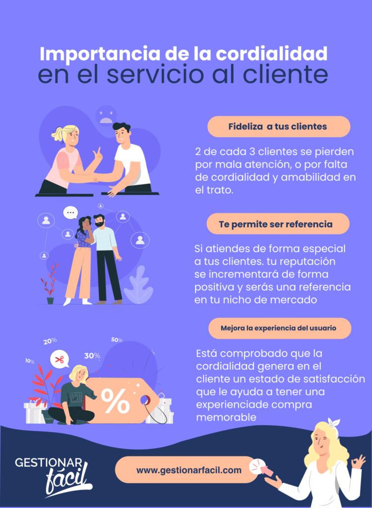 ¿Qué es la cordialidad en el servicio al cliente? 0