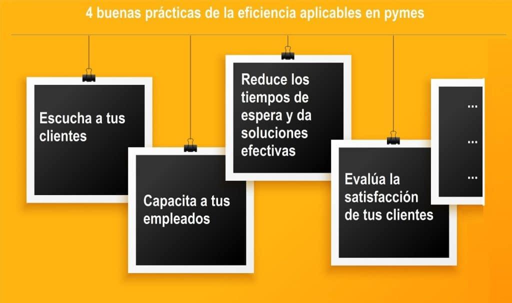 4 buenas prácticas de la eficiencia aplicables en pymes.