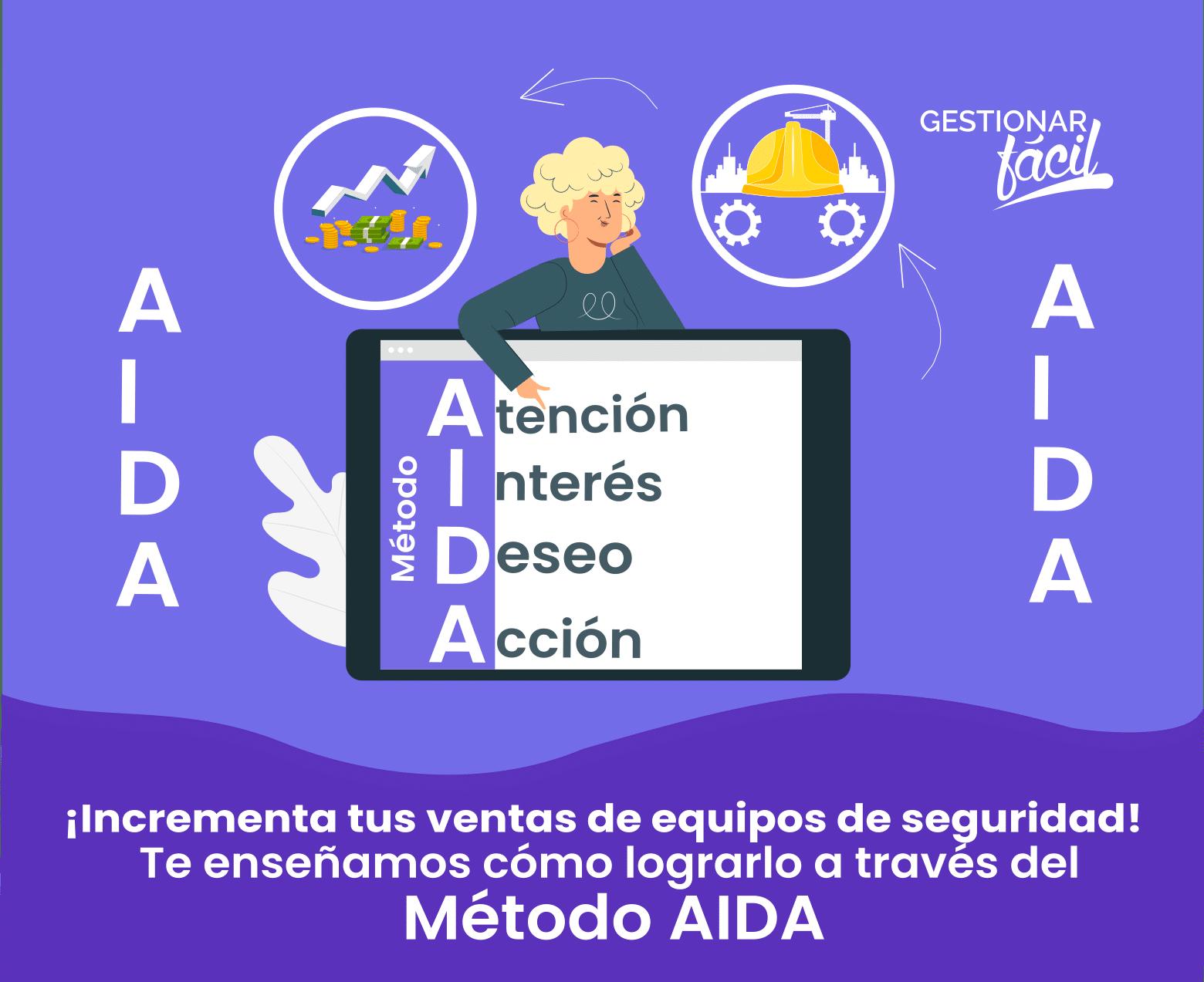 Cómo aplicar el método AIDA para vender equipos de seguridad