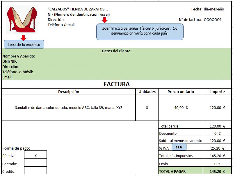 Modelo de factura