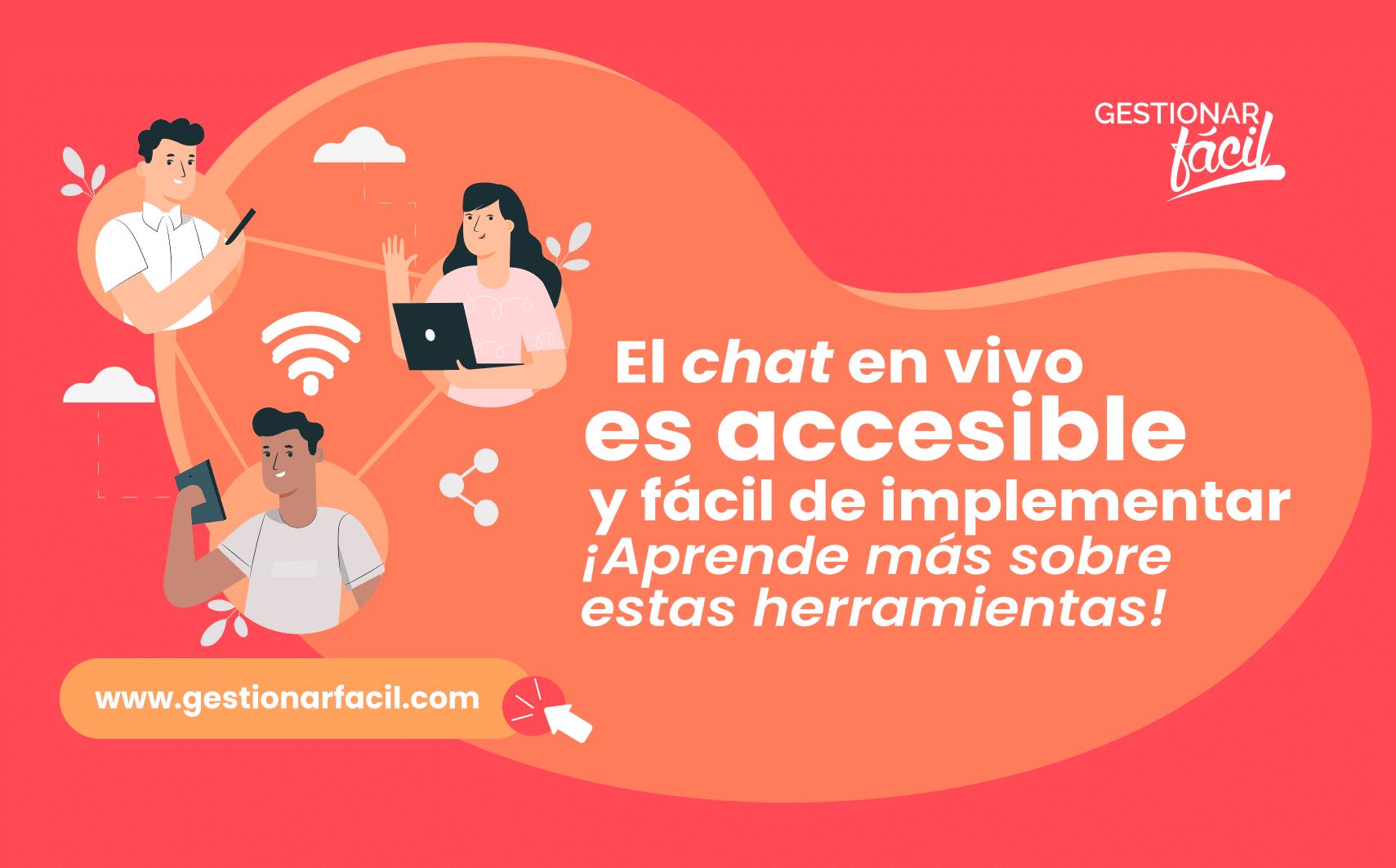 El chat en vivo es accesible para todos los usuarios