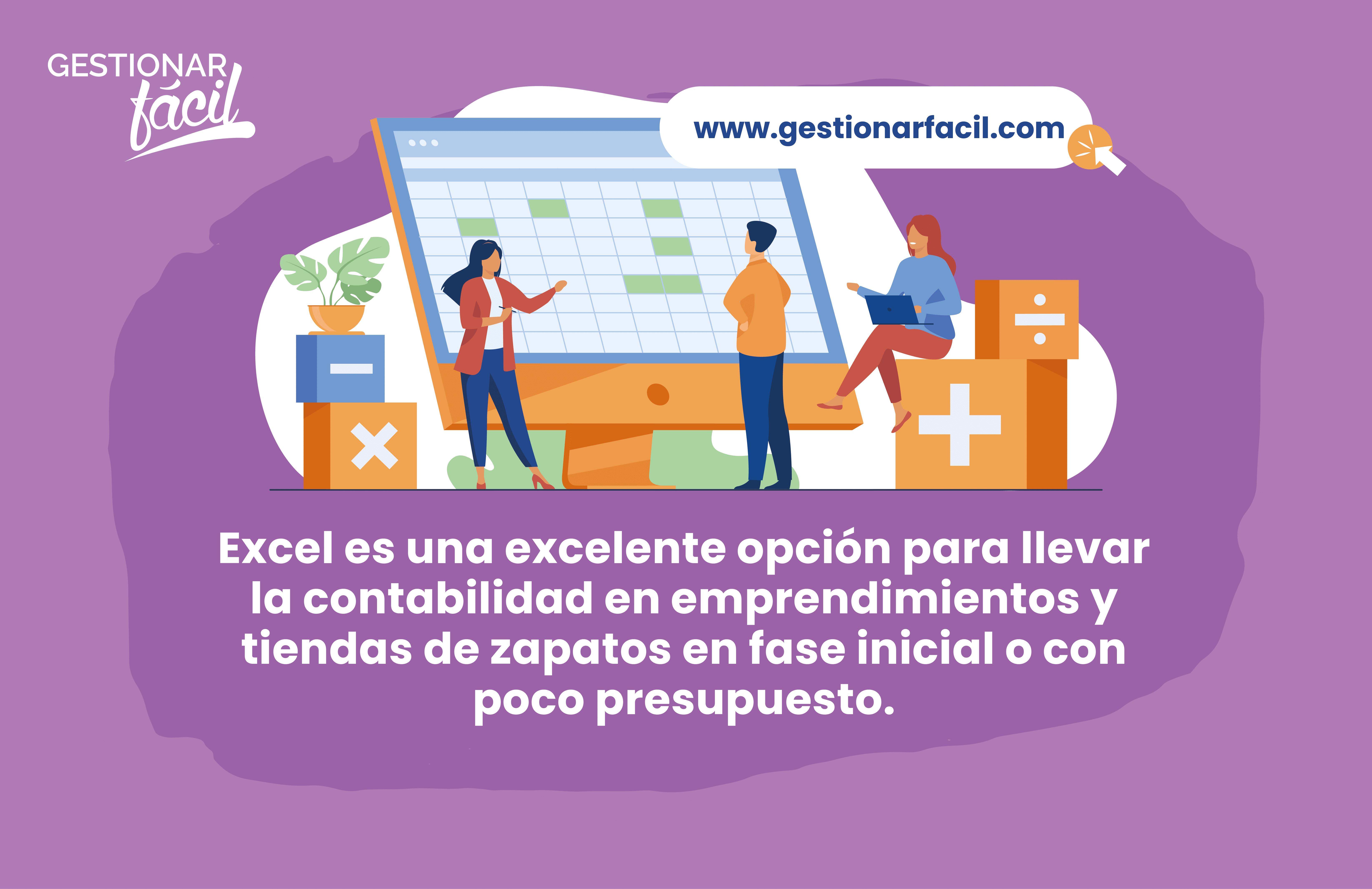 Excel es una excelente opción para llevar la contabilidad en emprendimientos y tiendas de zapatos en fase inicial o con poco presupuesto.