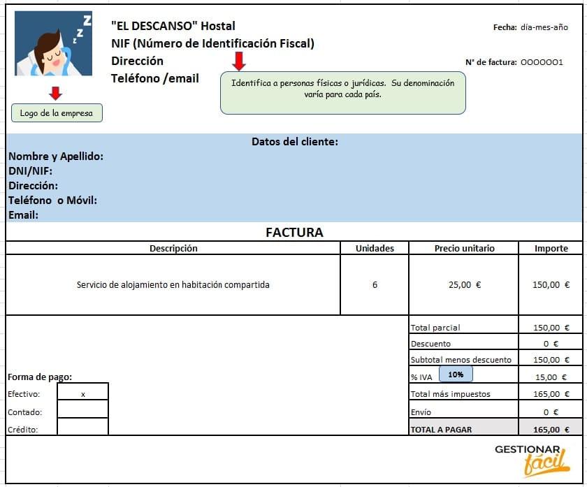 Contabilidad con Excel para un hostal 2