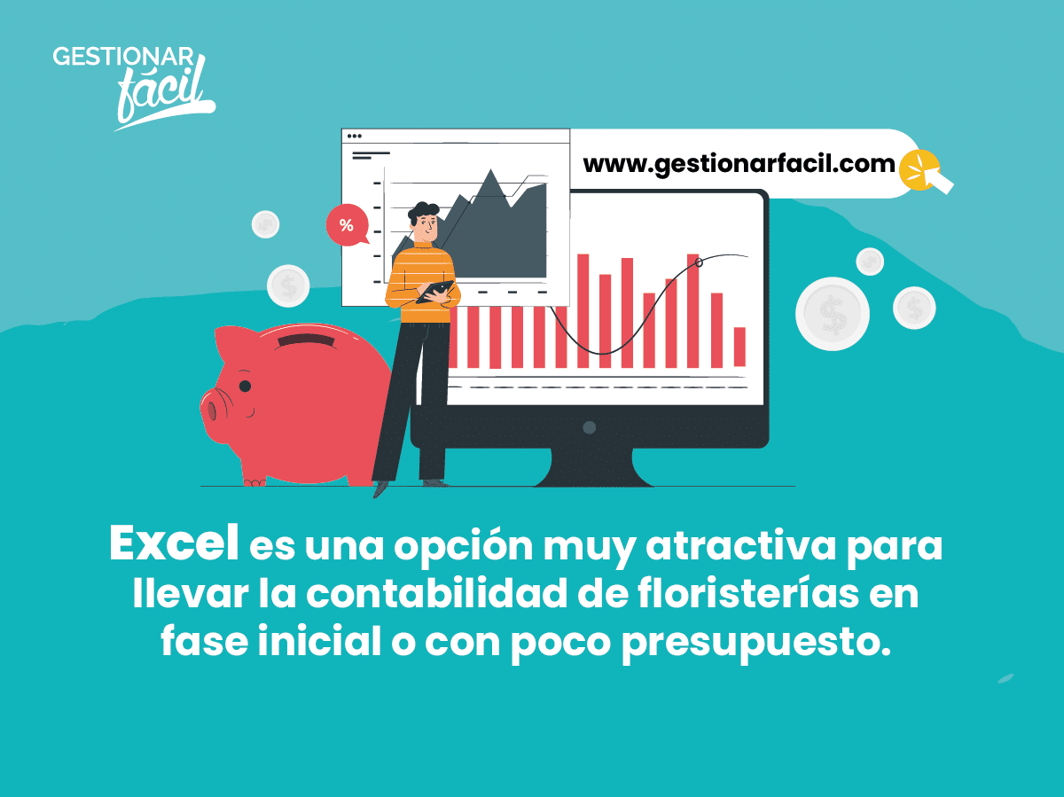 Excel es una opción ideal para llevar la contabilidad de floristerías.