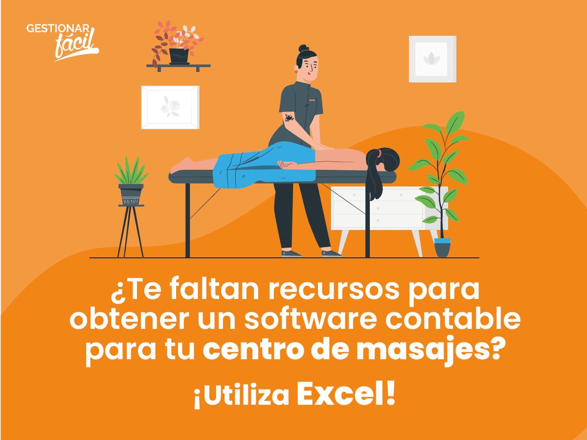 Contabilidad con Excel para un centro de masajes