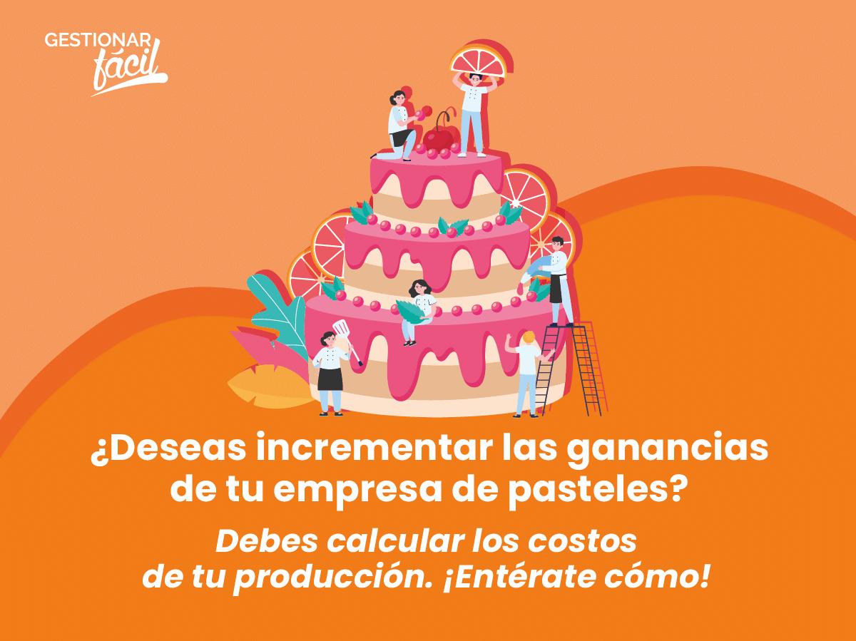 ¿Cómo calcular los costos de producción de un pastel?
