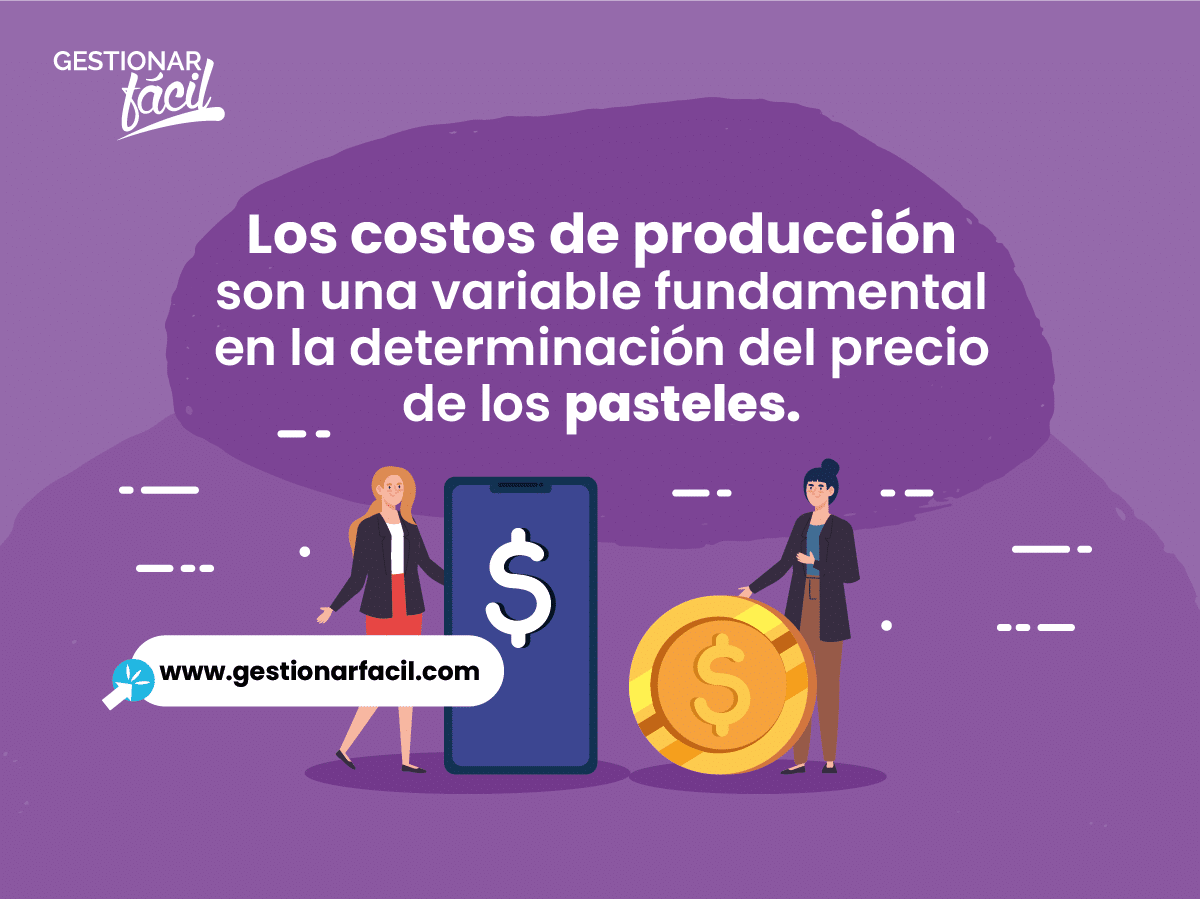 Los costos de producción son una variable fundamental en la determinación del precio de los pasteles.