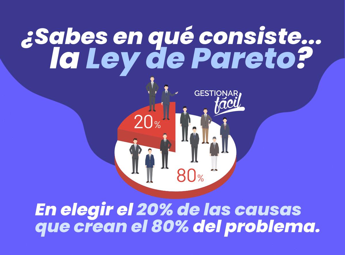 Una buena práctica es elegir el 20% de las causas que crean el 80% del problema...
