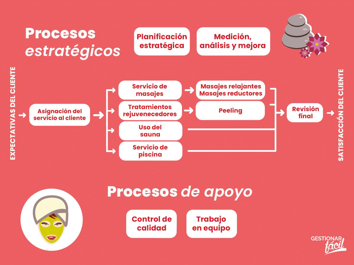 Procesos estratégicos de una empresa de salud y bienestar