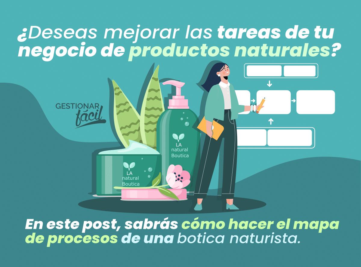 ¿Cómo hacer el mapa de procesos de una botica naturista?