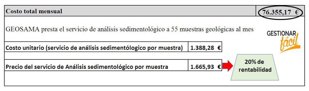 Cálculo de los costos de servicio de una empresa consultora 4