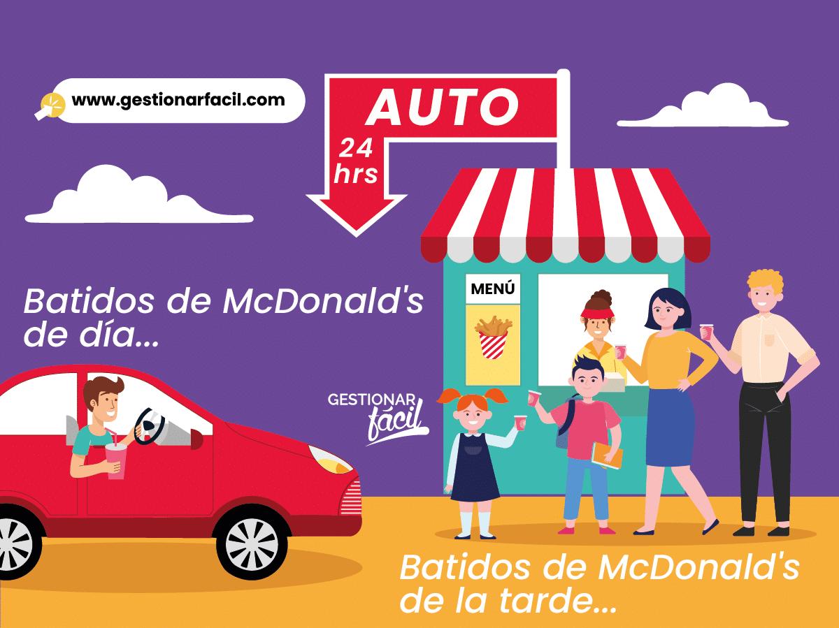Batidos de McDonald's de día vs. Batidos McDonald's de la tarde.