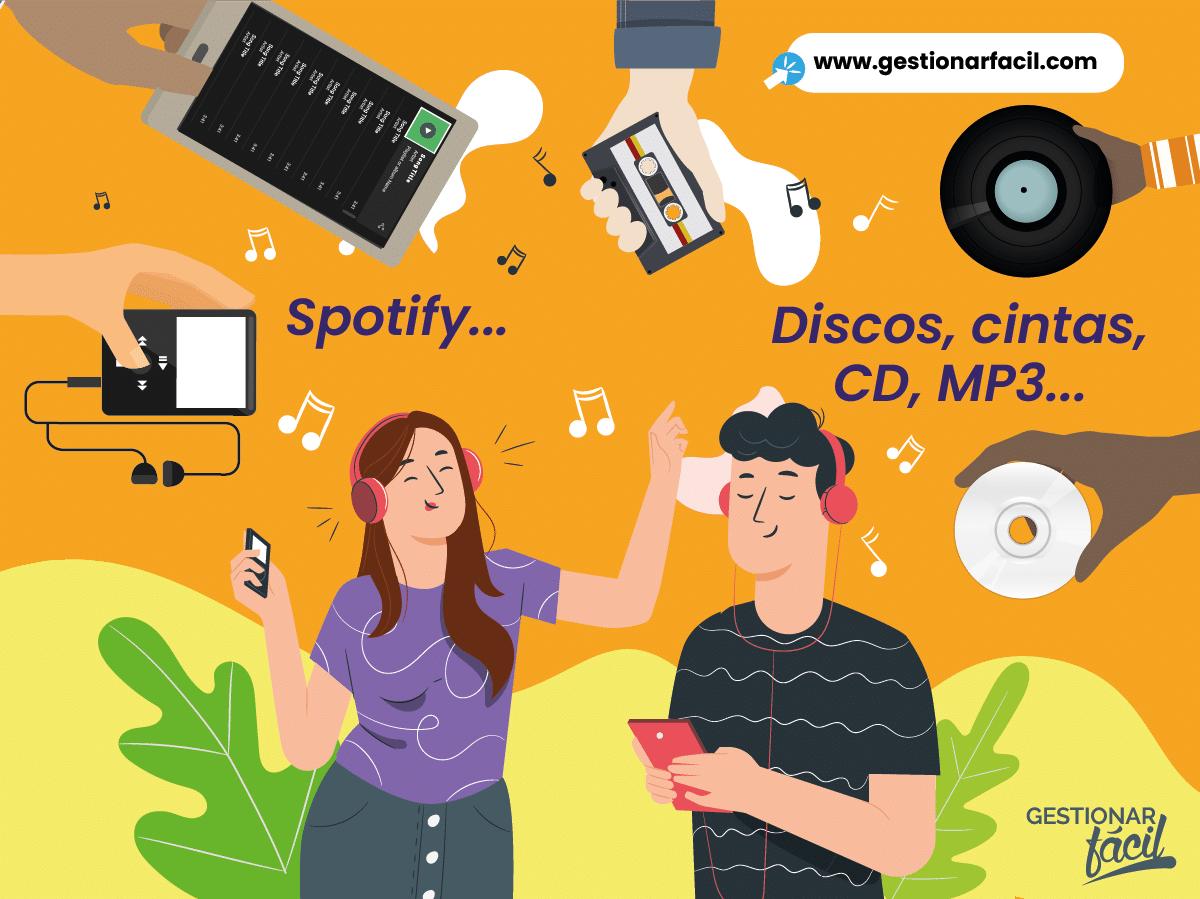 Cómo ha evolucionado la música: Spotify vs. Discos, cintas, CD, MP3... Qué es innovar...