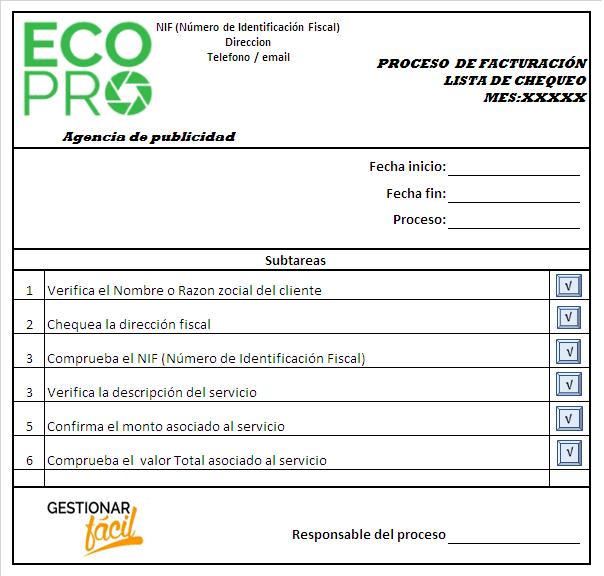 ejemplos de procesos de una empresa de servicios