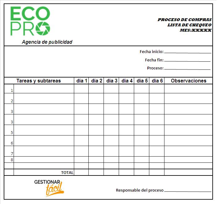 Ejemplos de procesos en una empresa de Servicios 2