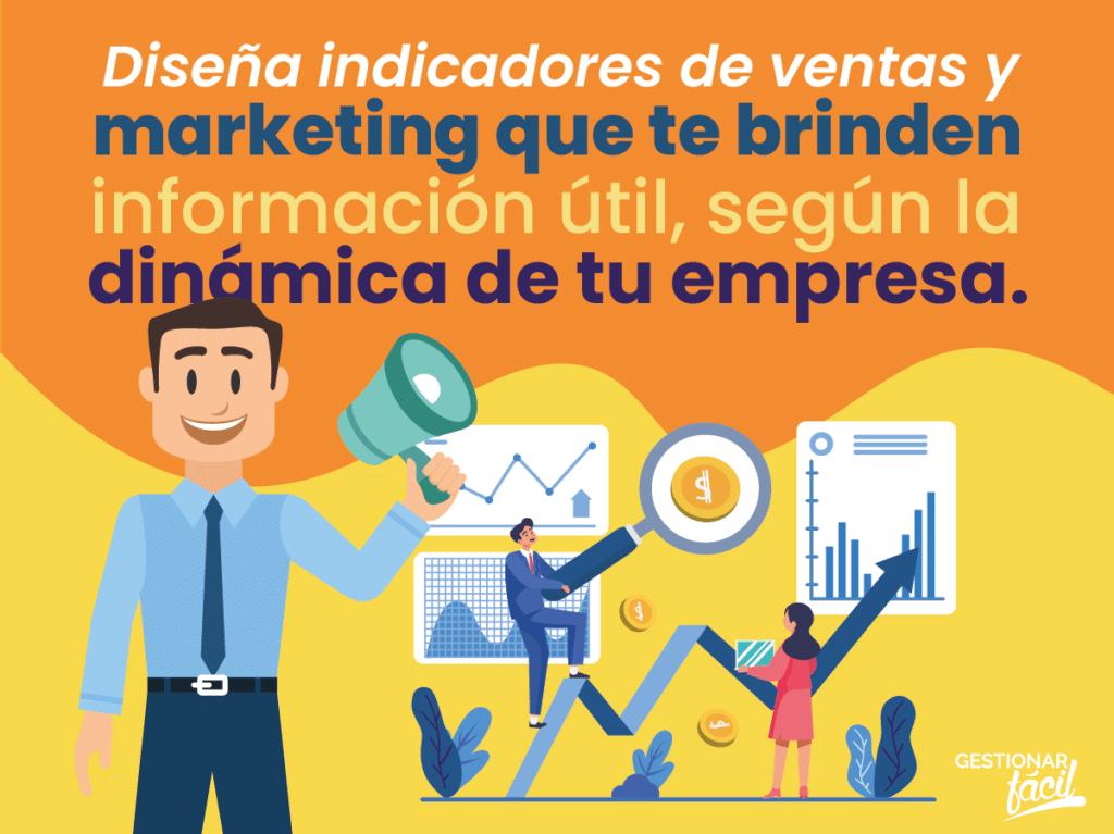 ¿Cómo diseñar indicadores de ventas y marketing?
