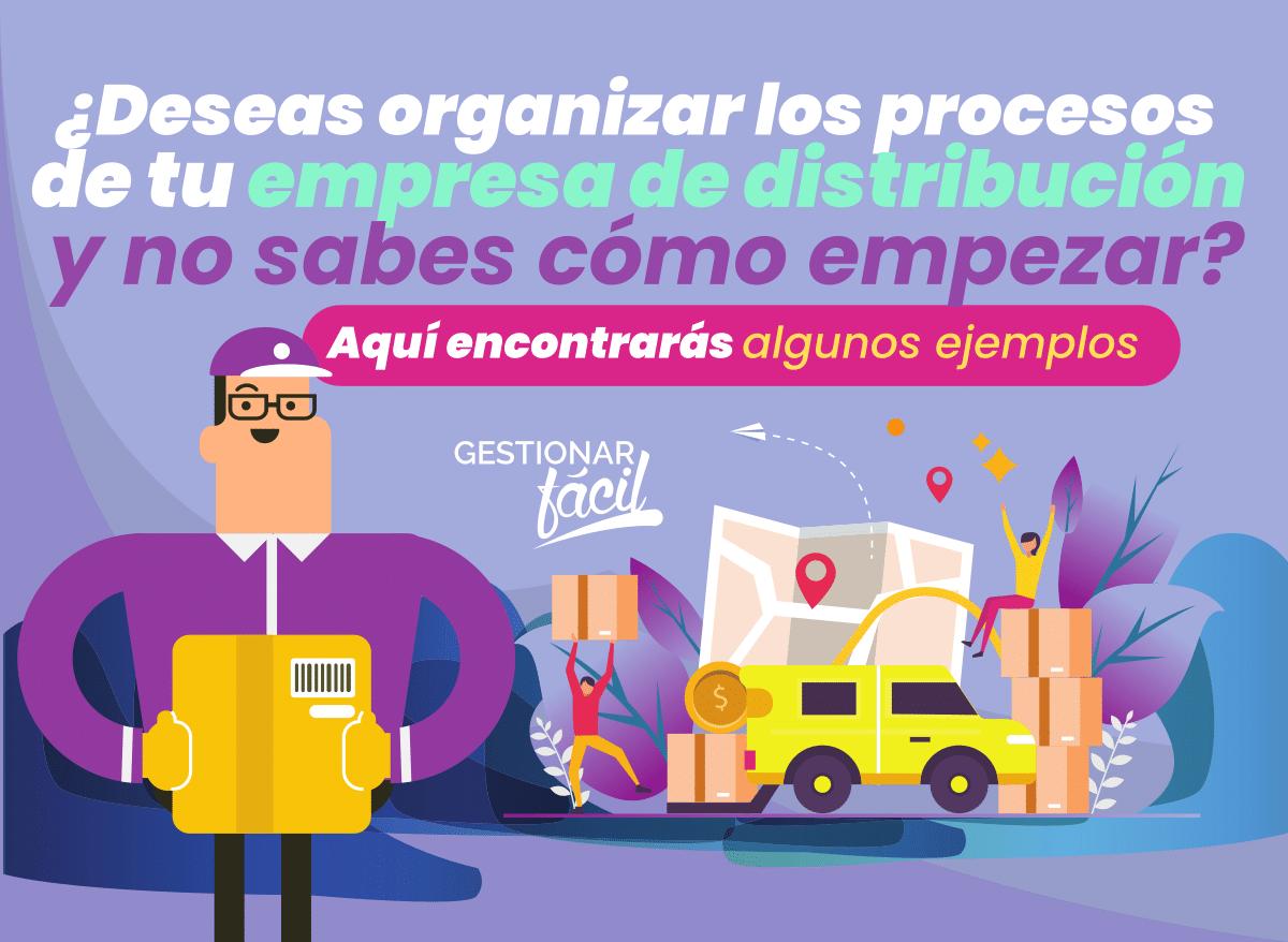 Ejemplos de procesos de una empresa de distribución