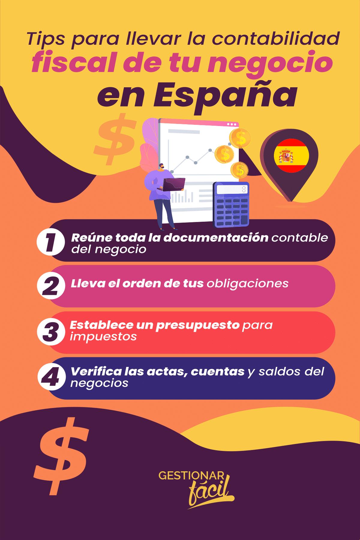Tips para llevar la contabilidad fiscal de tu negocio en España