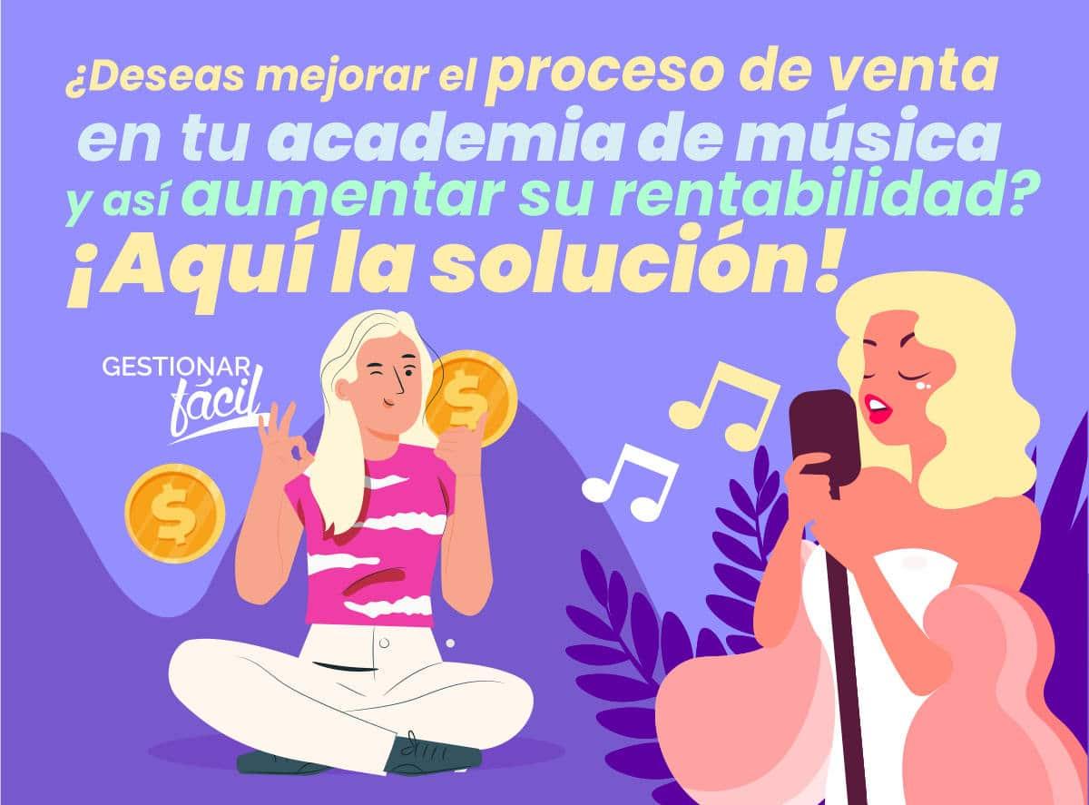 Proceso de ventas en una academia de música