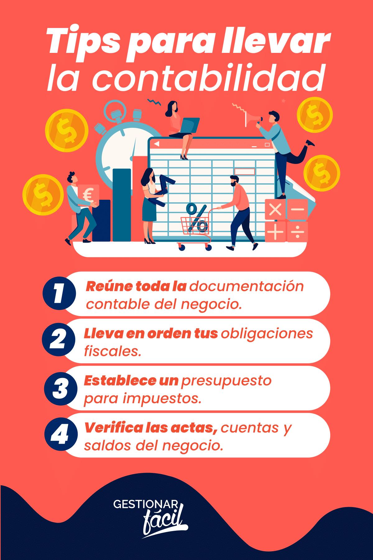 Tips para llevar en orden la contabilidad fiscal de tu negocio en México.
