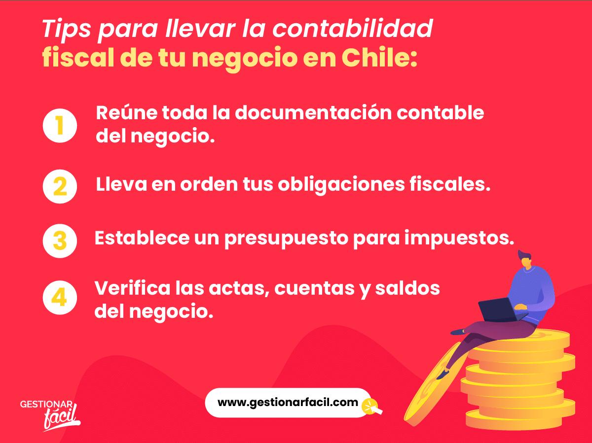 Tips para llevar en orden la contabilidad fiscal de tu negocio en Chile.