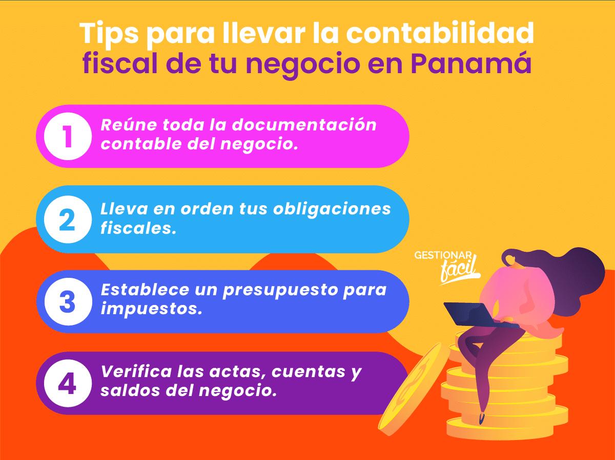 Tips para llevar en orden la contabilidad fiscal de tu negocio en Panamá.