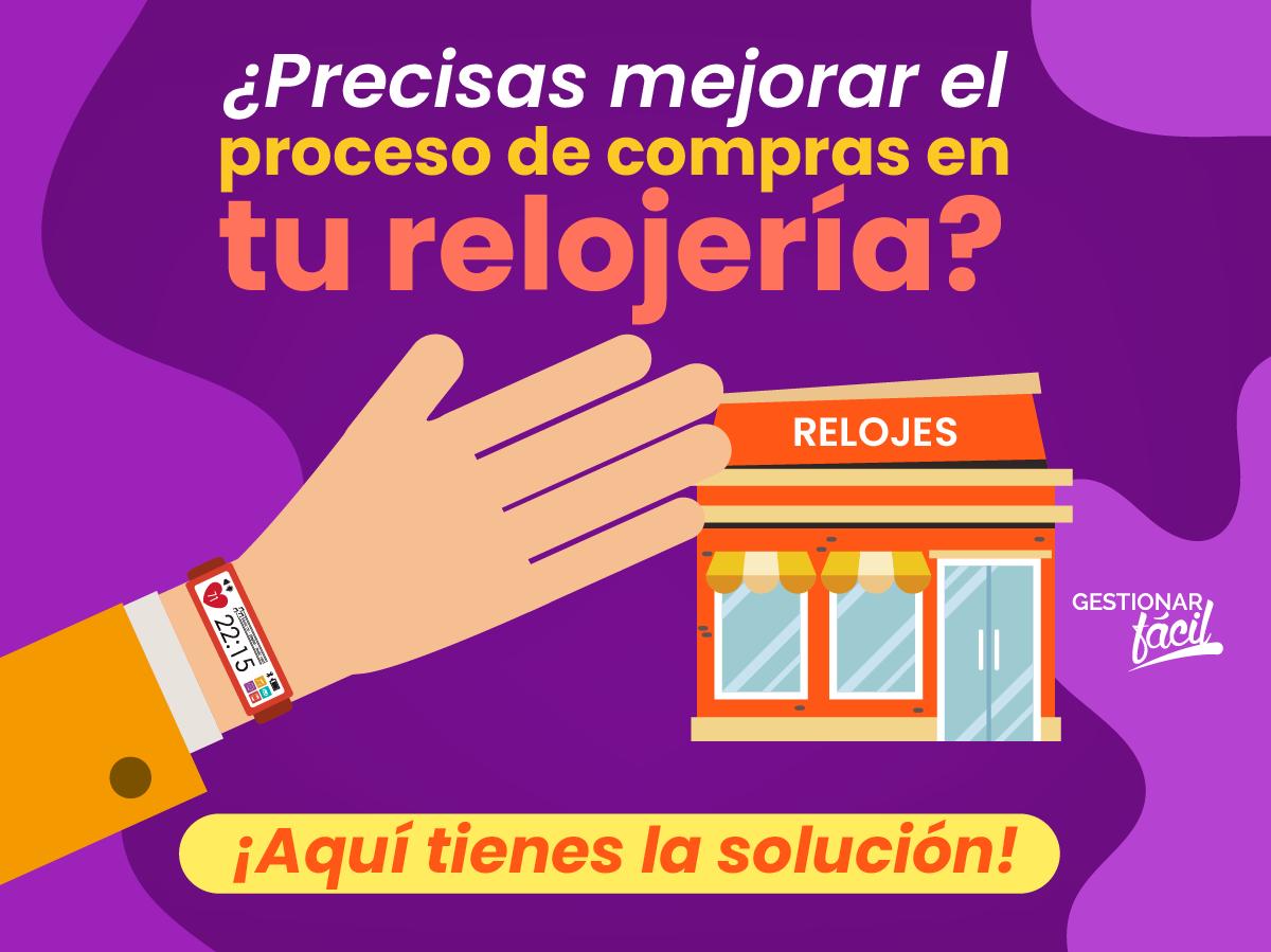 ¿Cómo gestionar el proceso de compras en una relojería?