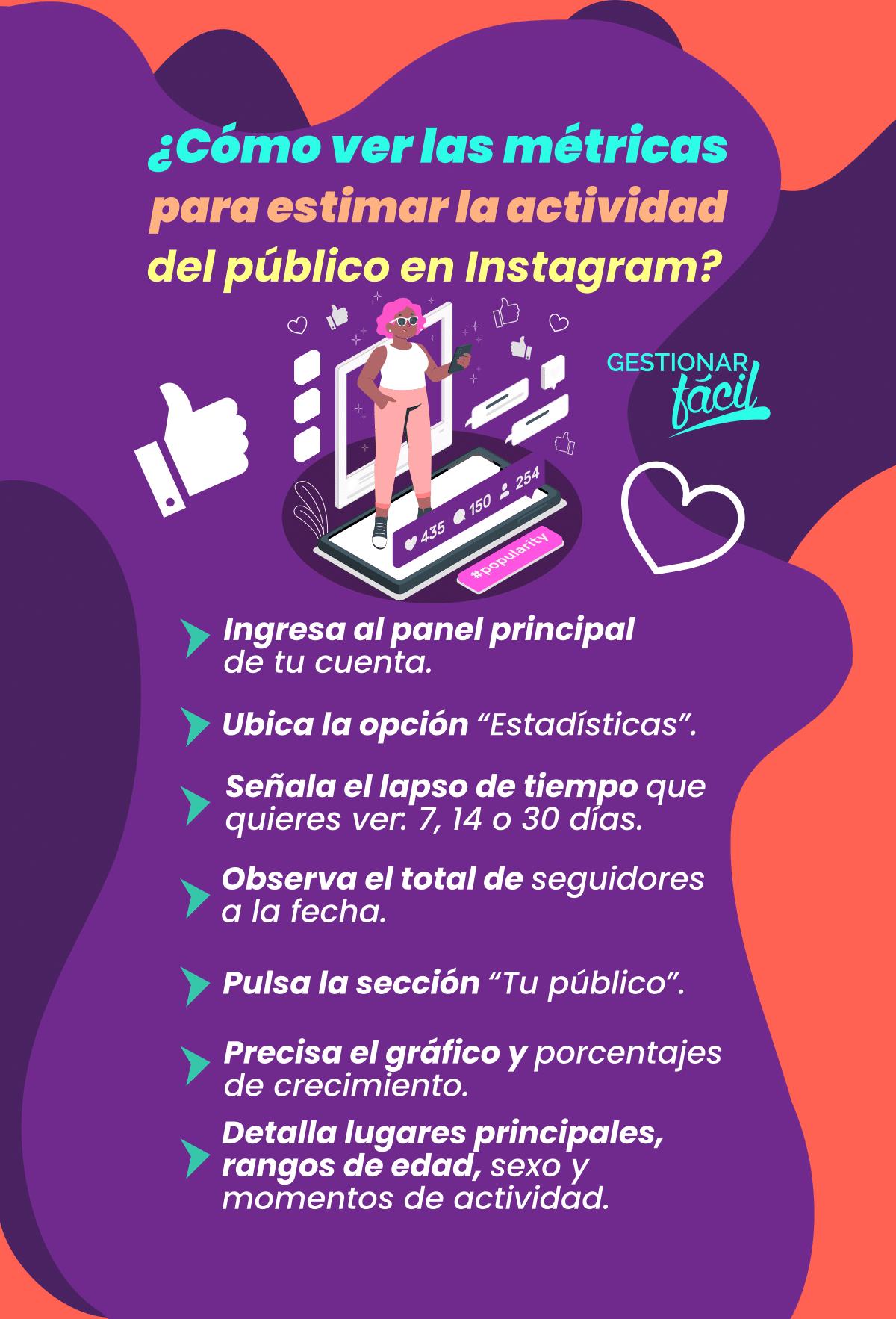 7 pasos para ver las métricas de actividad del público en Instagram