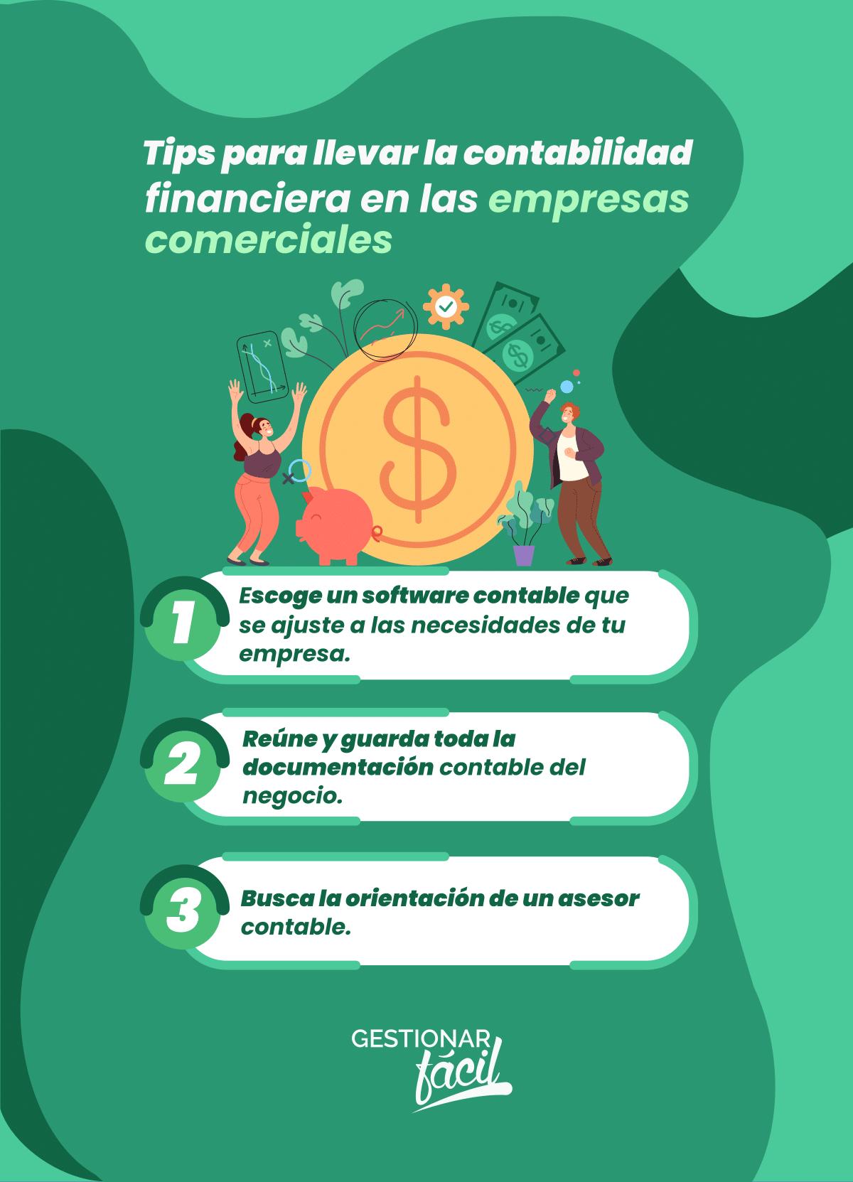 Tips para llevar la contabilidad financiera en las empresas comerciales.
