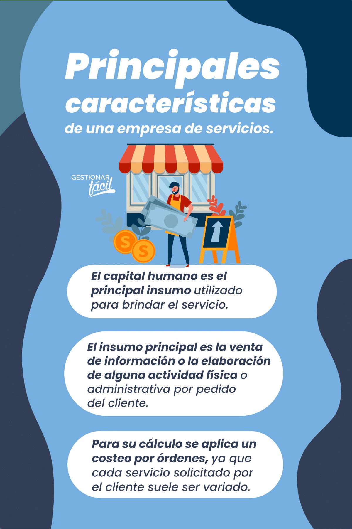 Costos directos e indirectos en una empresa de servicios.